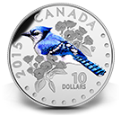 2015 $10 Colourful Songbirds of Canada Blue Jay