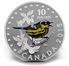 2015 $10 Colourful Songbirds of Canada Magnolia Warbler