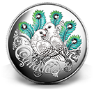 Celebration of Love-Fine Silver Coin made with Swarovski® crystals